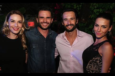 Monica Fonseca, Juan Pablo Raba, Rodrigo Santoro and Mel Fronckowiak at GEMS 2015 closing night Party at Ball & Chain